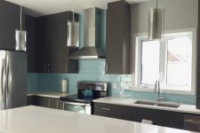 Private Residence Glass Tile Kitchen Backsplash