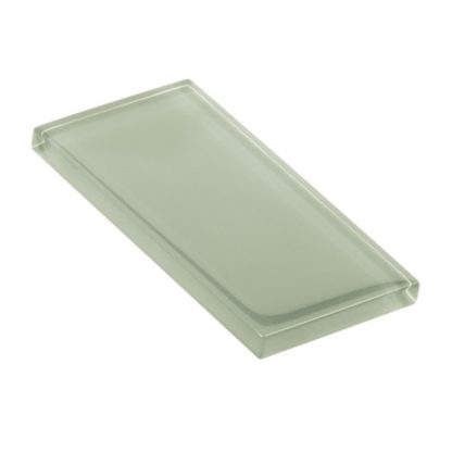 Quiet Green Glossy Glass Tile