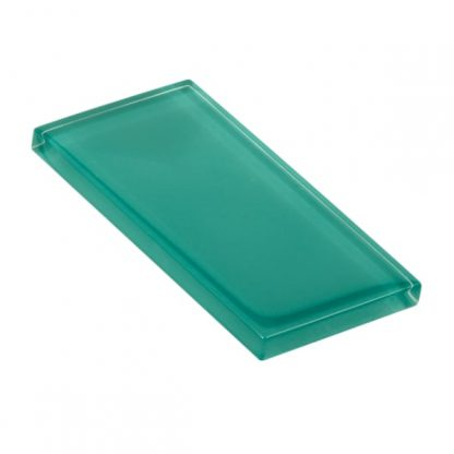 Rare Turquoise Glossy Glass Tile