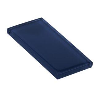 Saxon Blue Glossy Glass Tile