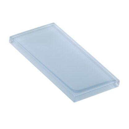 Silk Blue Glossy Glass Tile