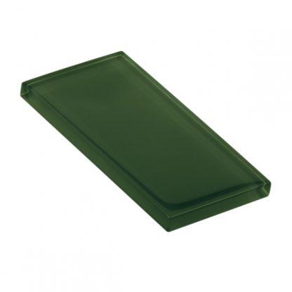 Tartan Green Glossy Glass Tile