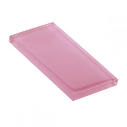 Tickled Pink Glossy Glass Tile