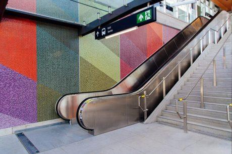 Tunney's Pasture Station Glass Tile Mosaic - Ottawa