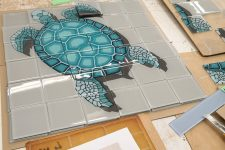 Turtle glass tile